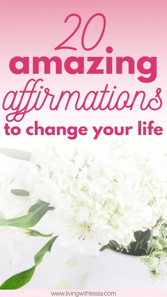 What are positive affirmations? Here they are explained, with a list of examples of positive affirmations. They can work wonderful as affirmations for work, for success, for anxiety and so many other things! Read this list of positive affirmations, pick your favorite and use them as your own daily affirmation. | #affirmations | #selfcare | #personaldevelopment | printable | list of positive affirmations | affirmations for women | affirmations for confidence | manifestation | law of attraction |