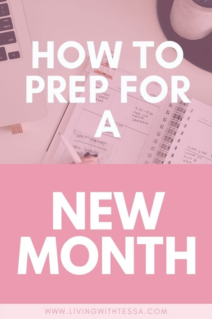 pin image for how to prepare for a new month