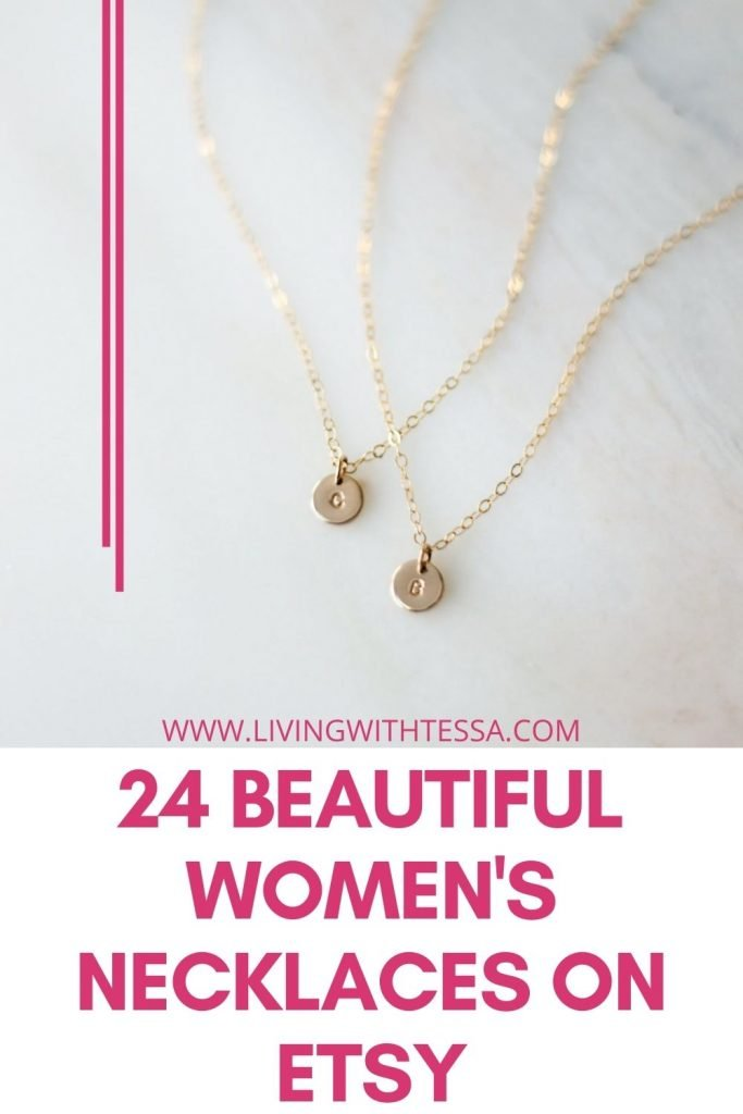 24 beautiful women's necklaces on etsy