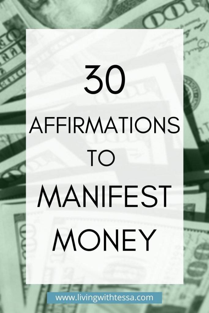 affirmations to manifest money