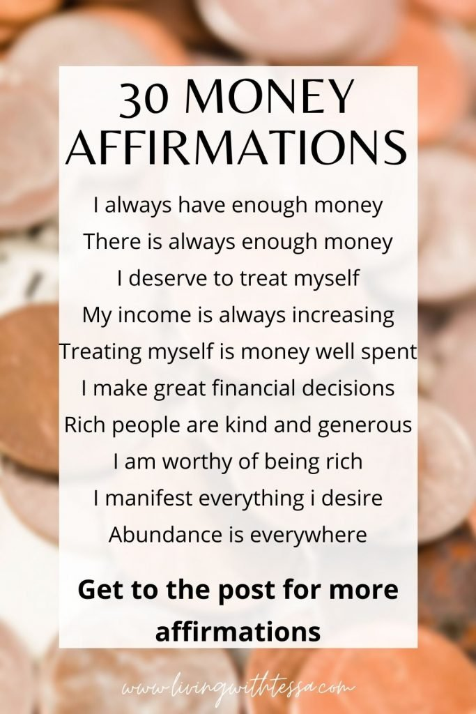 Affirm your way to wealth with these powerful money making affirmations. Check these out plus 20 others in the post!
