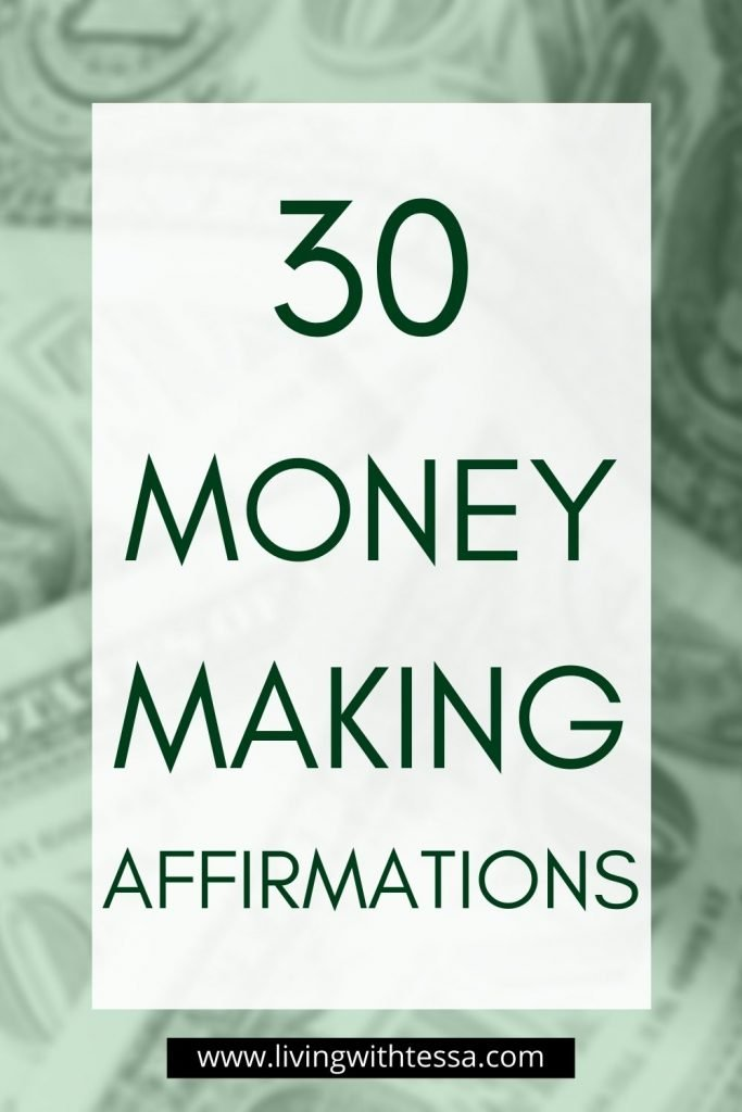 30 affirmations to manifest money easily and effortlessly. These and more in my post, filled with money affirmations!